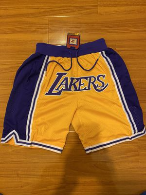 Lakers Just Don Shorts Kobe Bryant LeBron James for Sale in West Covina, CA