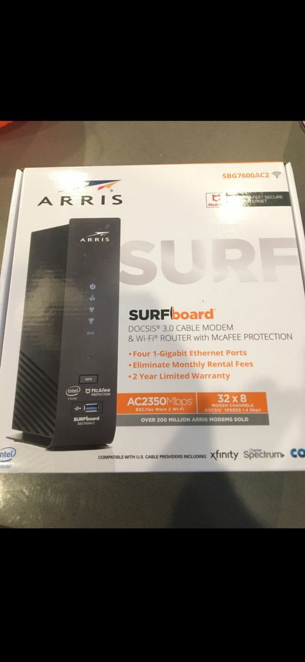 SBG7600ac2 ARRIS SURFBOARD CABLE MODEM AND ROUTER