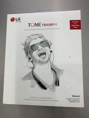 LG Tone Triumph Bluetooth Stereo Headset (Black) for Sale in San Antonio, TX