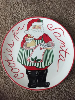 Cookies for Santa Plate 9inch for Sale in Glendale, AZ