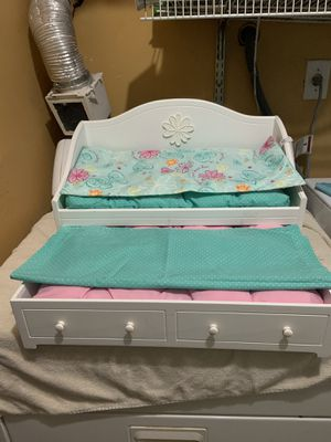 "American girl trundle bed for 18"" doll for Sale in Jessup, MD"