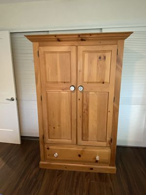 All Natural Wood Wardrobe With Antique Knobs for Sale in Largo, FL