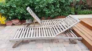2 Wood lounge chairs for Sale in Denver, CO