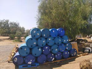 55-gallon closed-top barrels with caps food grade for Sale in Perris, CA