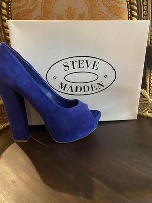 STEVE MADDEN Metallic Blue Heels for Sale in Spring, TX