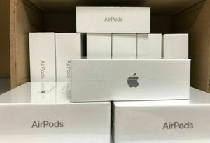 7/10 sold New Apple airpods w/ wireless charging case- good to use with Apple TV, iPhone, iPad, dell, MacBook, MacBook Pro, MacBook Air, for Sale in Lynnwood, WA