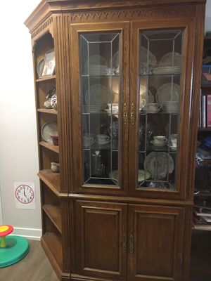Beautiful Antique China Cabinet with Corner Shelf for Sale in Melrose Park, IL
