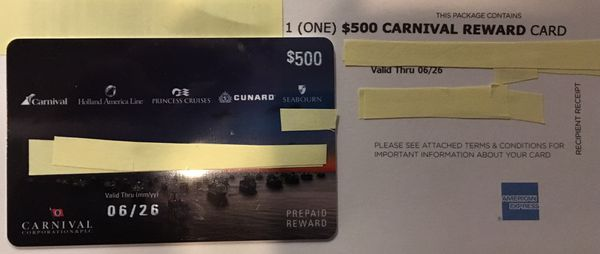Carnival Cruise Vouchers $1600 for $1300!!
