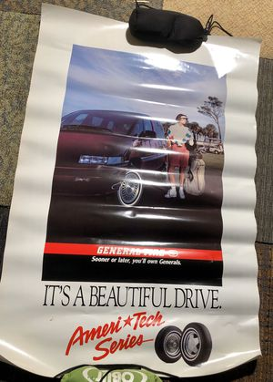 Vintage general tire ad poster Chevy Lumina for Sale in Zanesfield, OH