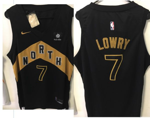 watch 3651e cbeb1 kyle lowry black and gold jersey