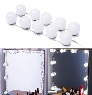 (New in box) $20 DIY Vanity Mirror Kit 10pcs Dimmable LED Light Bulb Makeup Dressing Table (USB Connection) for Sale in Whittier, CA