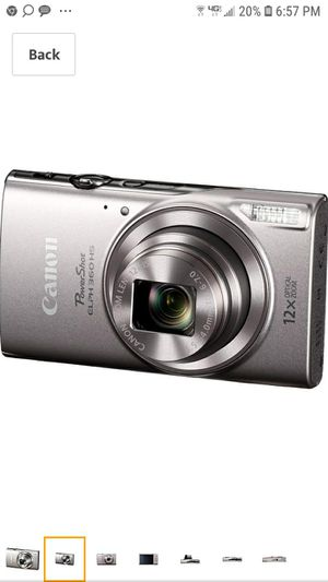 Canon PowerShot ELPH 360 Digital Camera w/ 12x Optical Zoom and Image Stabilization - Wi-Fi & NFC Enabled (Silver) for Sale in Conroe, TX