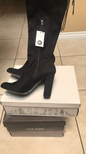 Black knee high suede boots for Sale in Irvine, CA