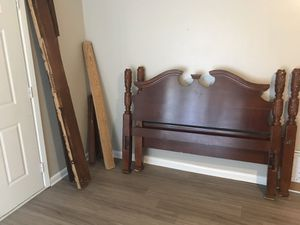 Wooden Bed Frame/Armorie for Sale in Little Rock, AR