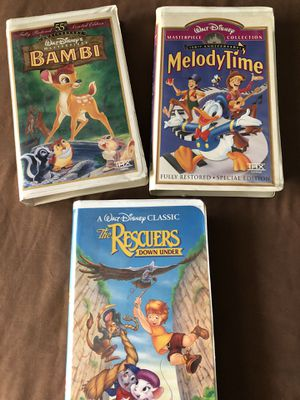 Bambi / Melody Time /Rescuers for Sale in Escondido, CA