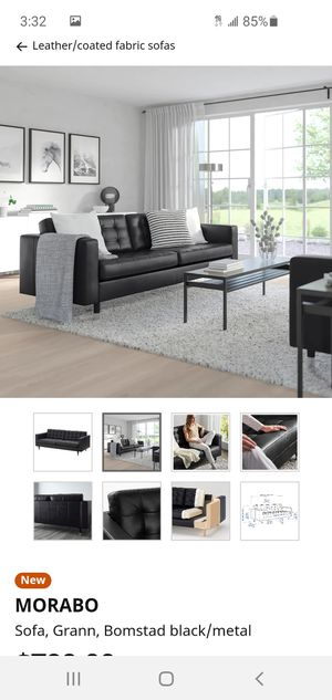 Modern genuine leather ikea sofa, chair and coctail table for Sale in Monroe, WA