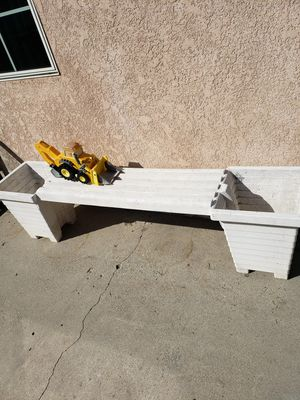 White plastic bench plant holders for Sale in Rowland Heights, CA