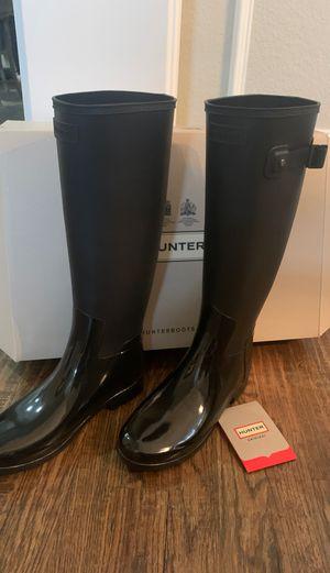Hunter rain boots, size 7, NEW, black for Sale in Carrollton, TX