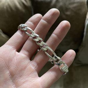 Silver Italian Link Bracelet for Sale in Los Angeles, CA