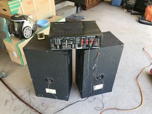 Stereo receiver with speakers. ONKYO receiver ($40). DLS SPEAKERS ($20). Both together ($50). Works! for Sale in Denver, CO