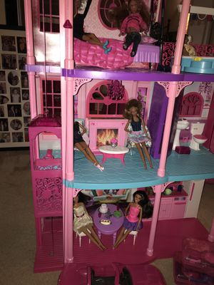 Barbie DollHouse with over 6 dolls & accessories for Sale in Alexandria, VA
