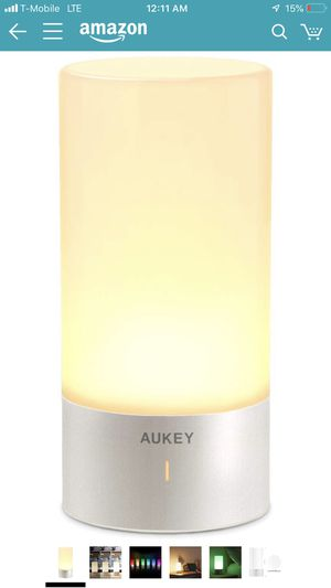AUKEY Table Lamp, Touch Sensor Bedside Lamps + Dimmable Warm White Light & Color Changing RGB for Bedrooms for Sale in Mojave, CA