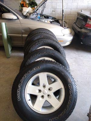 Jeep Wrangler OEM Rims,Alloys,Wheels. Very good condition for Sale in Deerfield Beach, FL