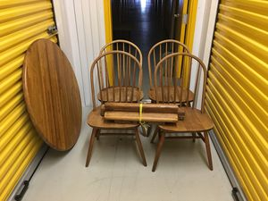 SOLID Oak Dining Table and (4) Chairs $65 for Sale in Chesapeake, VA