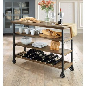 Kitchen Cart, wine rack tv stand for Sale in Houston, TX