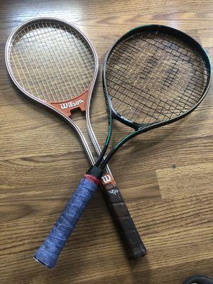 Wilson E/X Court SPS Series Oversize Tennis Racquet/Wilson Jimmy Connors Rally Tennis Racket L4 1/4 Metal for Sale in Edinburgh, IN