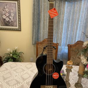 black fender acoustic bass bajoloche for Sale in Commerce, CA