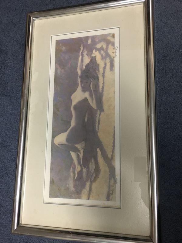 Thornton Utz - Lavender Lace Painting