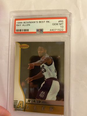 1996 Bowmans Best Ray Allen rookie psa 10 for Sale in Anaheim, CA