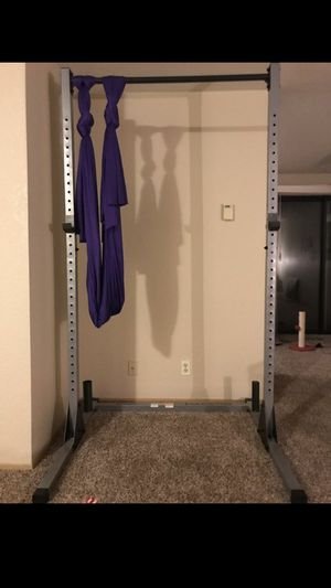 Squat rack with pull up bar like new $85 firm for Sale in Tacoma, WA