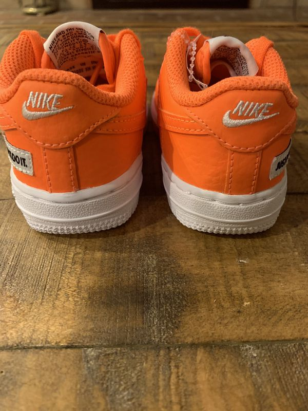 New Nike Air Force One Orange Toddler's Kids Size 7c and 9c