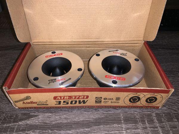 """Audiopipe ATR-3721 3.75"""" 350W Titanium Super Car Pro Tweeter Audio ATR3731"""