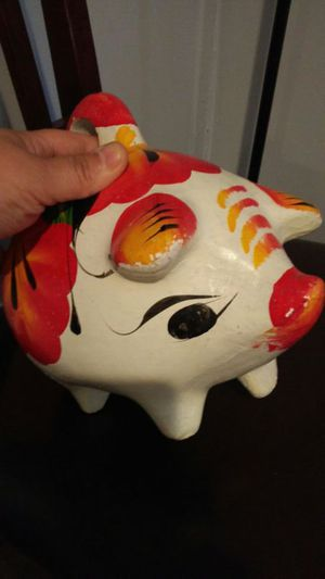 Old hand painted ceramic piggy bank for Sale in Salt Lake City, UT