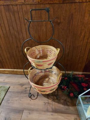 Longaberger snowman stand with baskets for Sale in Woodsboro, MD