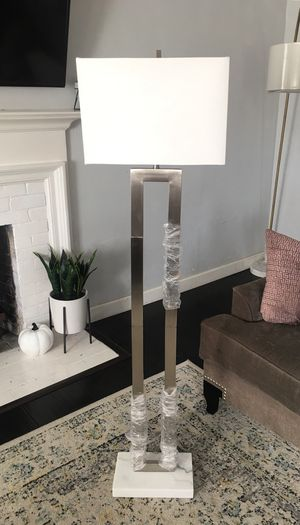 New Nickel Floor Lamp w Marble Base for Sale in Pomona, CA