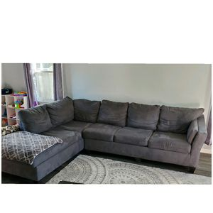 Microfiber Gray Sectional Sleeper Couch Sofa for Sale in Lakehurst, NJ