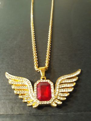 Gold plated pendant and chain for Sale in Houston, TX