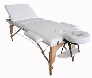"""Brand New Portable White Massage Table - 72"""" long - Comes with Additional Pillows & Carrying Case for Sale in Temple City, CA"""