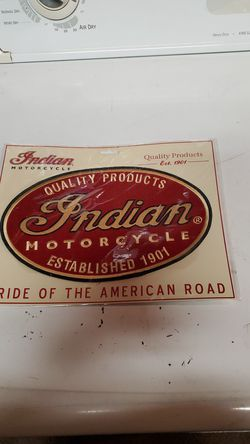 "Indian motorcycle patch 6"" x 10"" $40 for Sale in Buena Park,  CA"