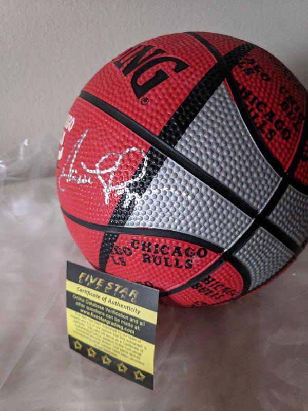 Scottie Pippen Autographed Mini Basketball with COA