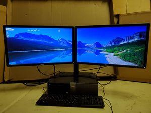 """Dell Optiplex 980 computer, Intel Quad-Core i7 -2.93GHz -3.60GHz Processor, 2TB HDD, 16GB RAM, Dual 24"""" Dell 1080 Monitor for Sale in Laveen Village, AZ"""