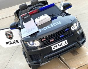 BRAND NEW Police SUV 12volt REMOTE CONTROL MODEL electric kid ride on car power wheels come with BLUETOOTH MUSIC for Sale in Los Angeles, CA