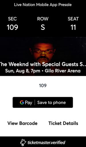 The Weeknd After Hours tour 2021 AZ Tickets for Sale in Phoenix, AZ