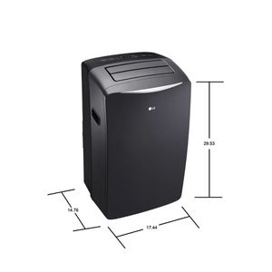 LG 14,000 BTU (8,000 BTU,DOE) Portable Air Conditioner, 115-Volt w/ Dehumidifier Function and LCD Remote in Graphite for Sale in Arcadia, CA