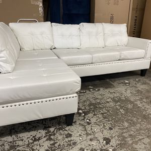 $50 down / New White Leather Sectional Couch /$50 down for Sale in Los Angeles, CA