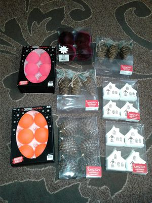 Christmas tree decorations toys ornaments. All new, never used $35 for Sale in Everett, WA
